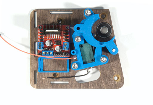 Photo of panel with motor mount bottom attached